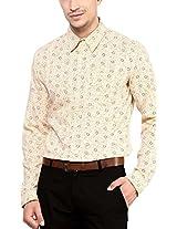 Yellow Submarine Men's Cotton Muti Color Print Mercerised Cotton Shirt