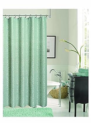 Dainty Home Miranda Shower Curtain, Aqua