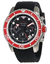 red line Men's RL-50034-01-RD-BZ Piston Chronograph Black Dial Watch