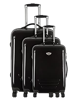 American Revival by Platinium Set 3 Trolleyss 4 Ruedas Colors (Negro)