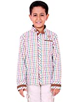 OK's Boys Adoring White Casual Cotton Shirt For Boys | OKS2555WHT