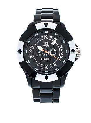 Light Time Reloj Poker Negro / Blanco