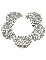 Exclusive Funky Design Silver Polished Made Hair Clip - Pins For Women & Girls Partywear Jewelry
