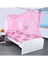 Mosquito Net for Large Big Double Bed 7 x 7 Feet - (Pink)