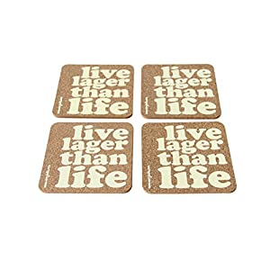 Verry India Live lager than life - Set of 4 coasters ( Cork )