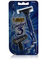 Comfort 3 Shavers For Men, 4 each (Sensitive Skin) by Bic