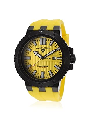 Swiss Legend Men's 10126-BB-01-YA Challenger Yellow Silicone Watch