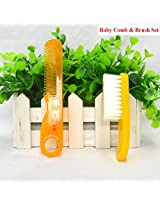 Newborn Baby Comb and Soft Brush Set - Grooming Hair Care Products for Babies & Infants