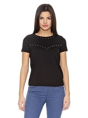 Springfield Camiseta Tachas (Negro)