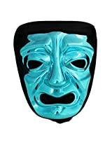 300 Immortal Mask with Hood - Blue - Frightening Cosplay Face Halloween