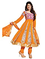 atisundar refined Orange Embroidered Anarkali- 4121_39_301