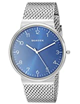 Skagen Ancher Analog Blue Dial Men's Watch - SKW6164