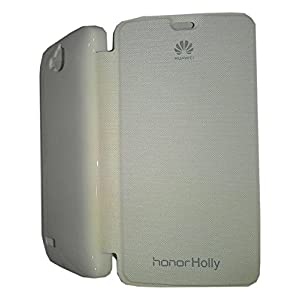 EXXON Flip Cover For Huawei Honor Holly U19 With Screen Guard -white +DATA CABLE