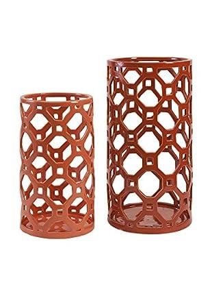 Set Of 2 Archard Cutwork Ceramic Vase, Multi