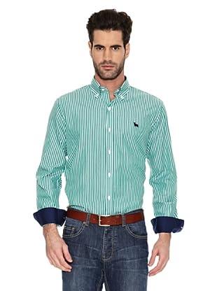 Toro Camisa Rayas Vestir Bicolor (Verde)