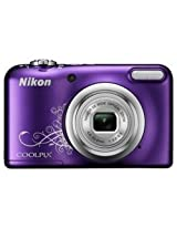 Nikon Coolpix A10 Point and Shoot Digital Camera (Purple) with 8GB Memory Card and Camera Case