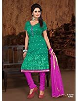 Attractive Designe Teal And Pink Salwar Suit FA218-1001