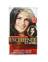 L'Oreal Paris Darkest Brown Hair Color, 72ml+100gm