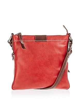 Borella Leder Cross-Body Bag (Rot/Braun)