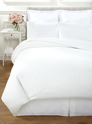 Vera Wang Sculpted Floral Duvet (White)
