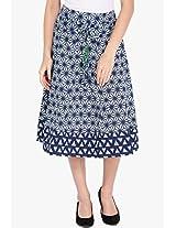 Blue Flared Skirt Vishudh