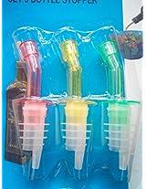 DivineXt 3 Bottle Pourers Wine Liquor Stopper Flair Spout Bar Plastic Free Flow Pour New