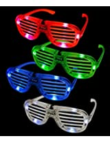 6 Bright Leds Per Color Eye Glasses