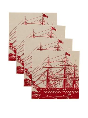 Thomas Paul Ship Napkin Set (Lava)