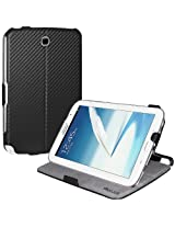 Amzer Shell Portfolio Folio Case Cover with Built-In Multi Angle Stand for Samsung Galaxy Note 8.0 i467, N5100, N5110 (AMZ95531)