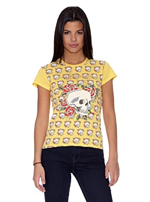 Ed Hardy Camiseta Calaveras (Amarillo)