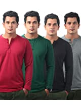 Krook Men's Cotton Multi-Color Pack Of 4 T-Shirt (X-Large)