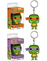 Michelangelo & Donatello: Pocket POP! Keychain x TMNT Vinyl Figure
