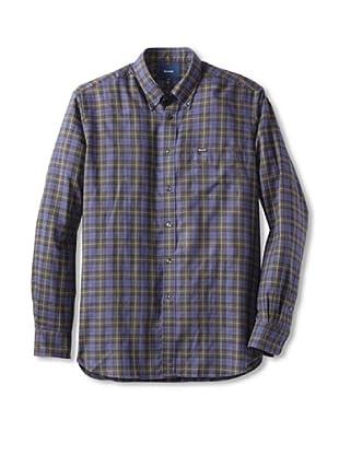 Façonnable Men's Windowpane Shirt (Blue)