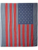D&Y Women's American Flag Oblong Scarf, Grey, One Size