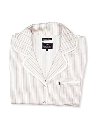 Lexington Company Pijama Mujer Rayas (Marrón / Blanco)
