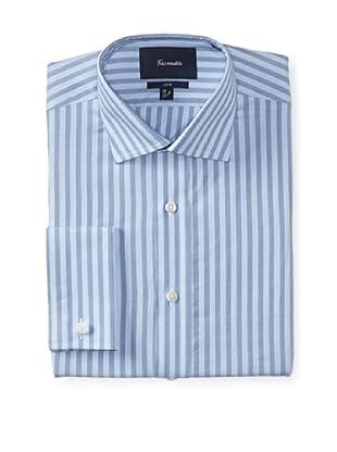 Façonnable Men's Club Fit Striped Dress Shirt (Blue Multi)
