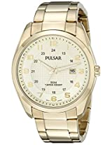 Pulsar Men's PH9072 Analog Display Analog Quartz Gold Watch