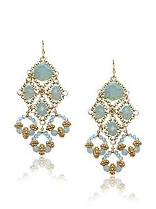 Diane Yang Opal Chandelier Earrings