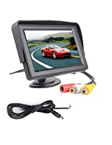 4.3 Digital TFT LCD Screen RearView Mirror Monitor for Car Reverse For Backup Camera With Auto-Dimming Compass