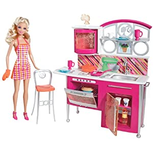 Barbie T8014 Deluxe Kitchen & Doll Set