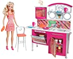 Barbie Stovetop To Tabletop Deluxe Kitchen and Doll Set