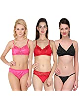 Urbaano Multi MARIEE Bridal Set - URM0903T - Pink , Red , Black (36)