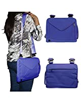 DMG Padwa Lifestyle Shockproof Soft Sleeve Pouch Carrying Envelope Bag canvas Case with Handle and Shoulder Strap for 10in Tablets/Netbooks/iPad/Android Tablets (Blue)