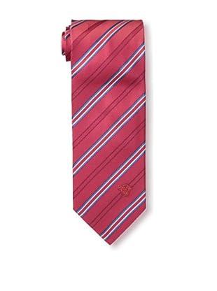 Versace Men's Striped Tie, Red/Blue/White