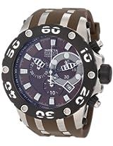 Invicta Men's 0907 Subaqua Reserve Chronograph Brown Dial Brown Polyurethane Watch