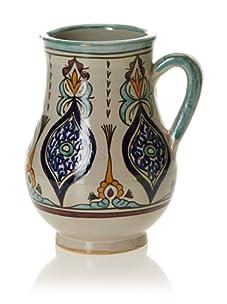 Hand-Painted Ceramic Single-Handle Jar (Multi)