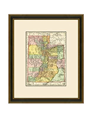 Antique Lithographic Map of Utah, 1886-1899