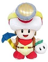 "Sanei Super Mario Series Standing Pose Captain Toad Plush Toy, 7.5"""