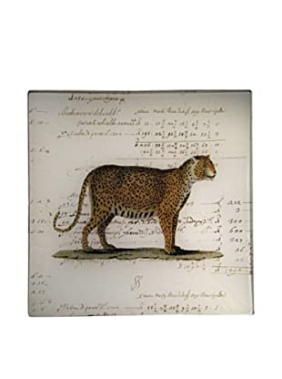 Twigs and Moss African Series Leopard Glass Tray
