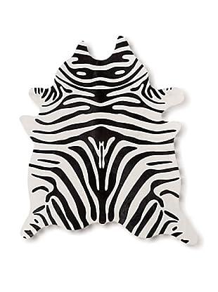 Natural Brand Togo Cowhide Rug, Black/Tan Zebra, 7' x 5' 5